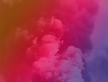 pink and purple smoke