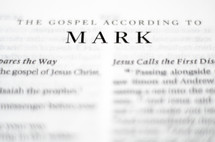 Title of the book of Mark up close