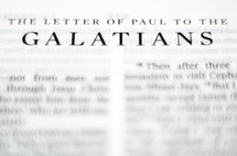 Title of the book of Galatians up close