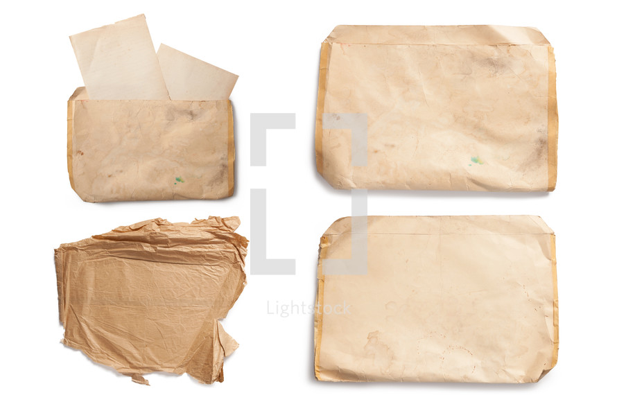 old letters in an envelope