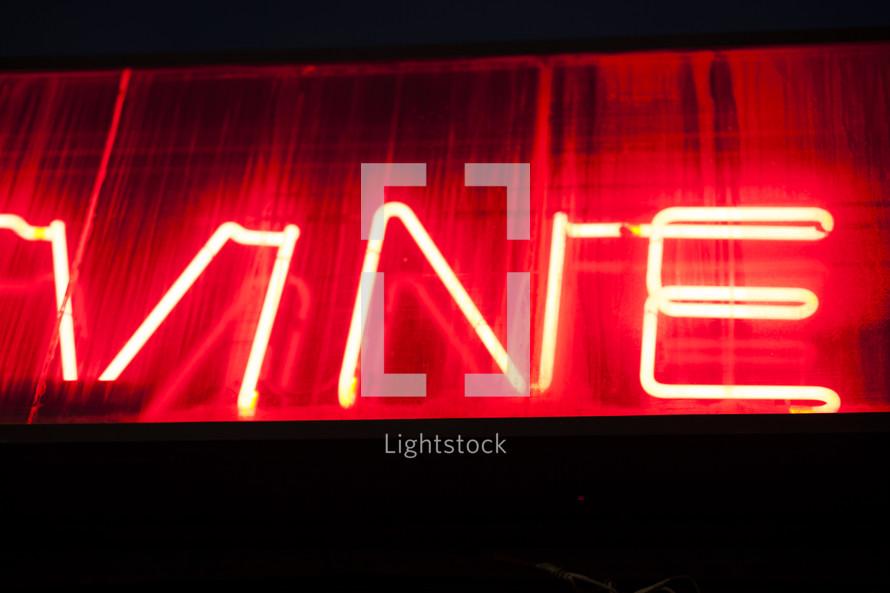 vine neon lights sign