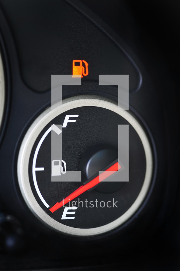 gas tank on empty