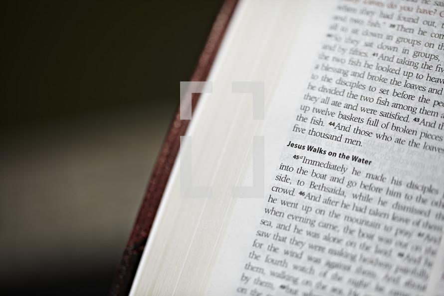 A closeup of Mark 6:45