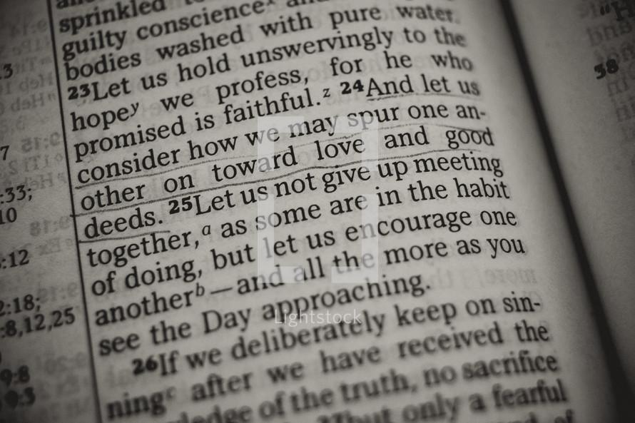love and good deeds - Bible verse