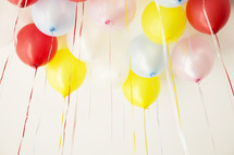 balloons against a white background
