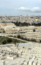 Mount of Olives looking toward the Temple Mount and the Dome of the Rock, Jerusalem