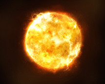 the surface of the sun