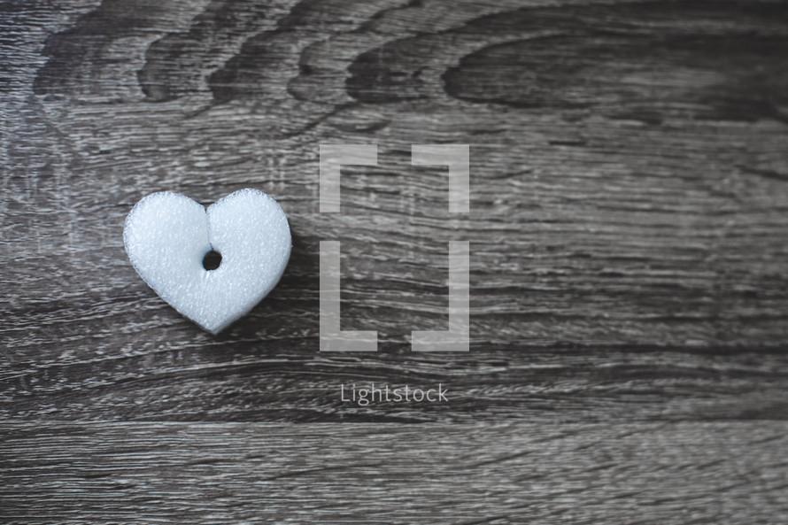 foam heart