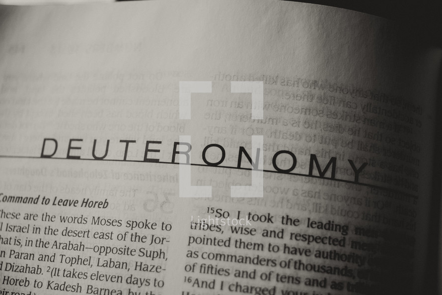 Open Bible book of Deuteronomy