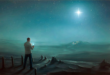 a man using a gps to find Bethlehem