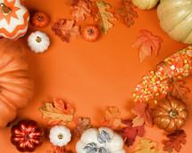 orange fall background