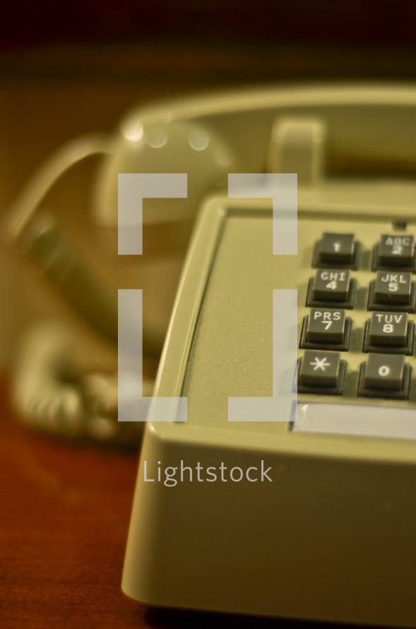 old touch dial telephone