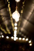 glowing hanging lamp