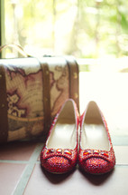 ruby red shoes and luggage