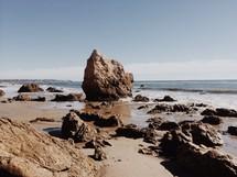 large rocks on a beach