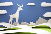 a paper deer
