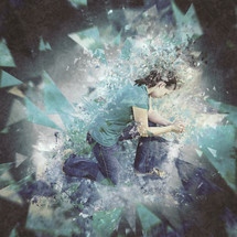 shattered woman praying