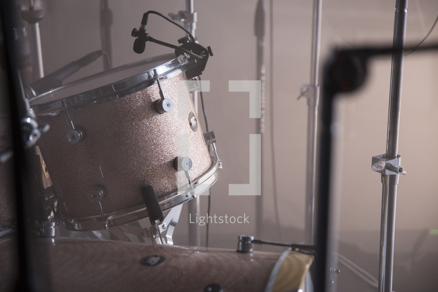 A set of drums.