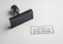 Exact Imprint of his nature, Hebrews 1:3 rubber stamp