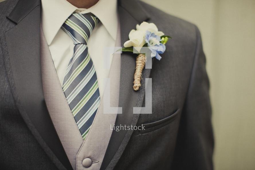 Groom in wedding