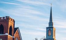 brick church steeple