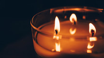 flames on a candle
