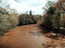 a muddy river