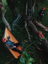camp site and hammock