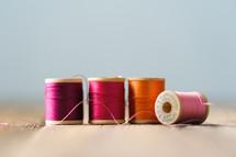 pink and orange thread