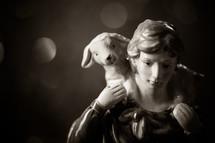 figurine, shepherd, lamb, sheep, nativity scene, nativity
