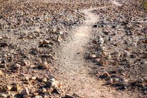 worn winding path