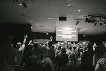parishioners at a worship service