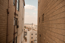 view of a cross on a church roof in Israel