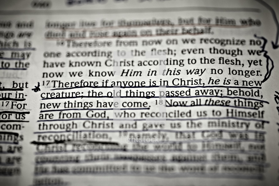 Scripture verse of 2 Corinthians 5:17