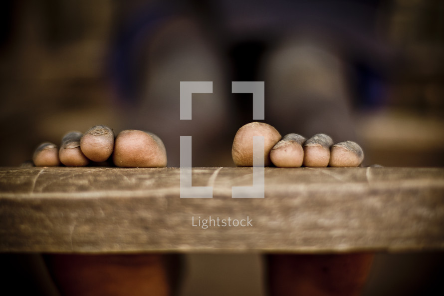 Weathered toes from a Sudanese child