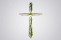 cross made out of Palm leaves