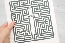 maze leading to Jesus