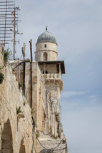 barberd wire and minaret in Israel