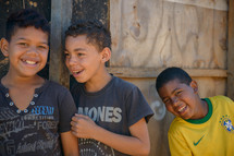 group of happy boys