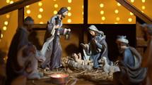 Nativity Scene and votive candles