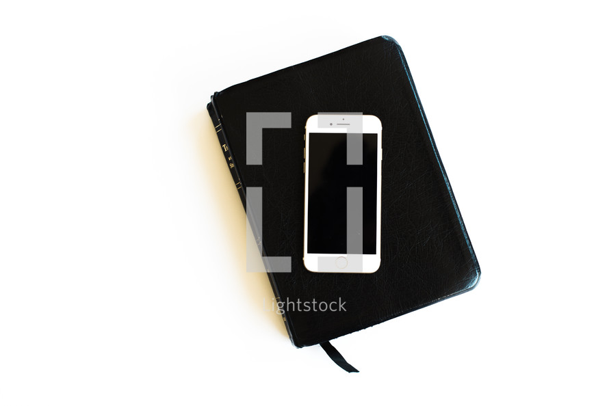 iPhone on a Bible