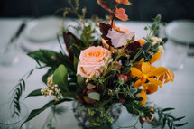 floral centerpiece on a table