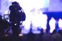 a video camera recording