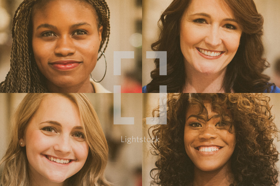 faces of women for women's group