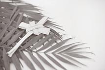 Palm leaf folded into a cross