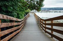 boardwalk to a marina