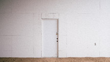 door on a white wall