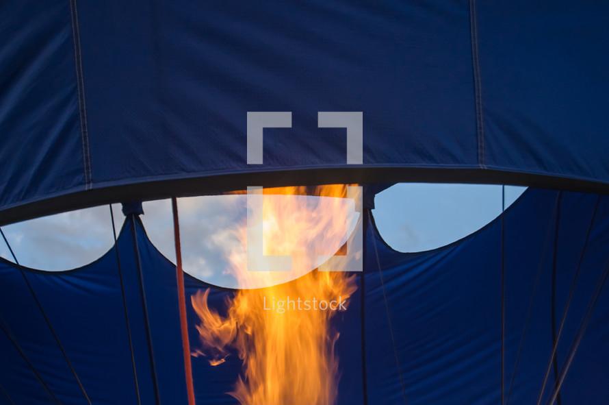 hot air balloon flames