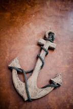 wooden anchor decor
