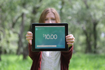 online giving from tablet
